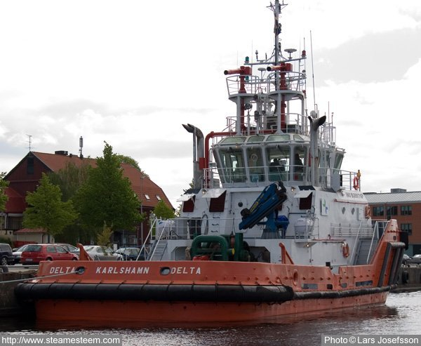 The tugboat Delta is on 329 brutto register tons
