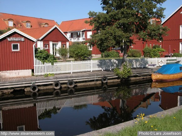 Karlshamn has mixed old and new buildings