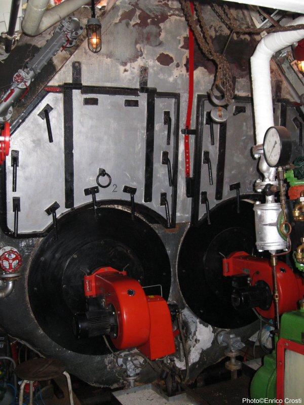 Army Tug Engine Room: Steamship Dockyard IX From Rotterdam