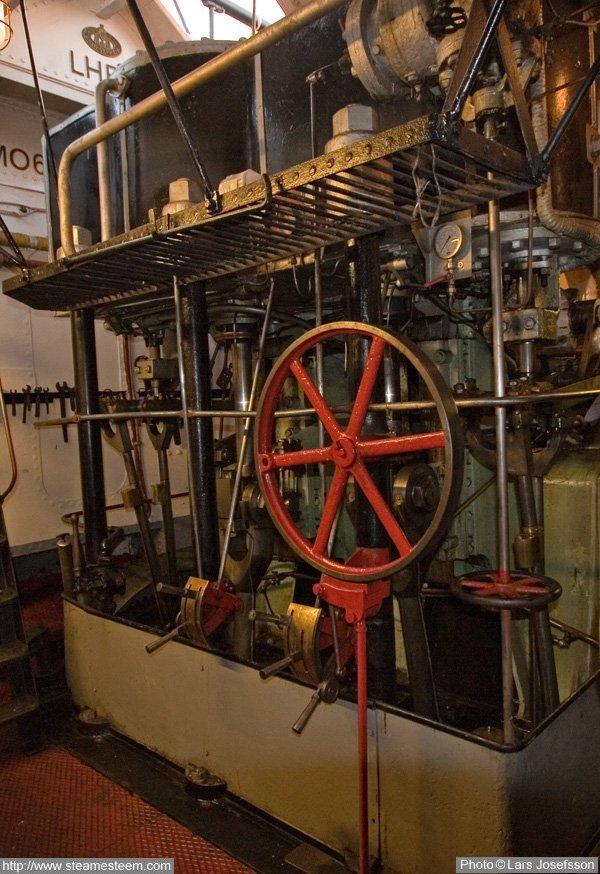 Boat Engine Room: Steamship Styrbjørn From Oslo